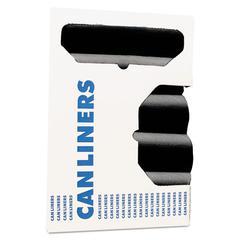 High-Density Coreless Can Liners, 40-45 gal, 19 mic, 40 x 48, Black, 200/Carton