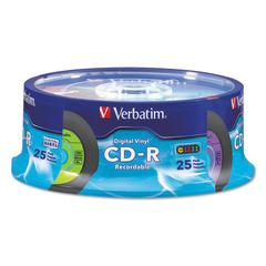 CD-R with Digital Vinyl Surface, 80min, 52X, 25/PK Spindle