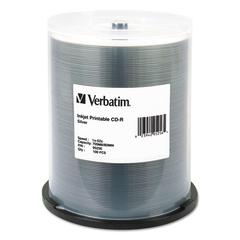 CD-R, 700MB, 52X, Silver Inkjet Printable, 100/PK Spindle