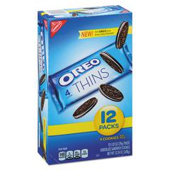 Oreo Cookies Single Serve Packs, Chocolate, 1.02 oz Pack, 12/Box