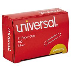 Paper Clips, No. 1, Smooth, Silver, 12PK/Carton