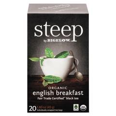 steep Tea, English Breakfast, 1.6 oz Tea Bag, 20/Box
