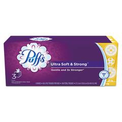 Ultra Soft and Strong Facial Tissue, 2-Ply, White, 56 Sheets/Box, 3/Pack