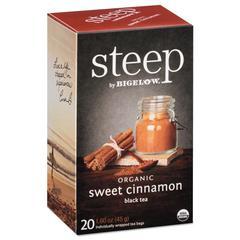 steep Tea, Sweet Cinnamon Black Tea, 1.6 oz Tea Bag, 20/Box