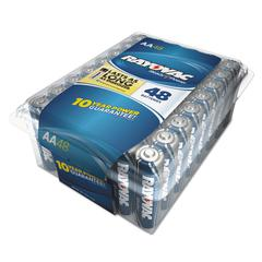 Alkaline Battery, AA, 48/Pack