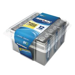 High Energy Premium Alkaline Battery, 9V, 8/Pack