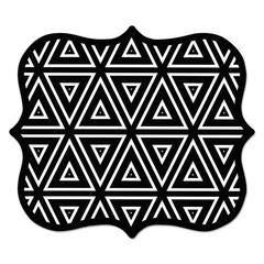 Designer Mouse Pads, Geometric Triangles, 9 x 8 x 3/16