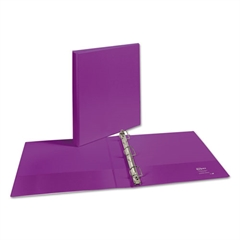 "Durable View Binder w/Slant Rings, 11 x 8 1/2, 1"" Cap, Purple"