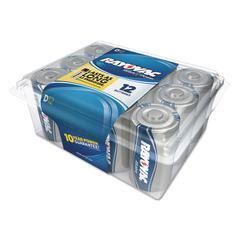 Alkaline Battery, D, 12/Pack