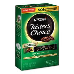 Taster's Choice Decaf House Blend Instant Coffee, 0.1oz Stick, 5/Box, 12 Bx/Ctn