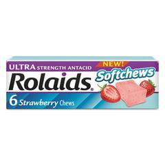 Ultra Strength Antacid Softchews, Strawberry, 6/Pack, 12 Packs/Box