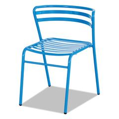 CoGo Steel Outdoor/Indoor Stack Chair, Blue, 2/Carton