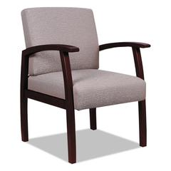 Alera Reception Lounge 700 Series Guest Chair, Mahogany/Sandstone