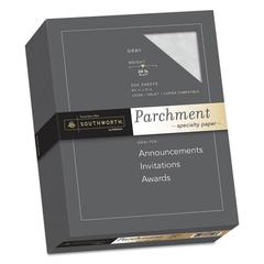 Parchment Specialty Paper, 24 lb, 8.5 x 11, Gray, 500/Ream