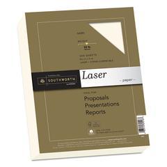 25% Cotton Premium Laser Paper, 32lb, Smooth, 8 1/2 x 11, Ivory, 300 Sheets