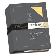 Parchment Specialty Paper, 24 lb, 8 1/2 x 11, Gold, 500/BX