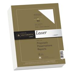 25% Cotton Laser Paper, 32lb, 97 Bright, 8 1/2 x 11, Wicked White, 300 Sheets