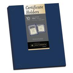 Certificate Holder, Navy, 105lb Linen Stock, 12 x 9 1/2, 10/Pack
