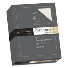 Parchment Specialty Paper, 24 lb, 8 1/2 x 11, Ivory, 500/BX