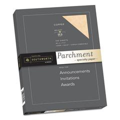 Parchment Specialty Paper, Copper, 24lb, 8 1/2 x 11, 100 Sheets