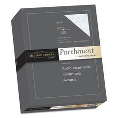 Parchment Specialty Paper, 24 lb, 8.5 x 11, Blue, 500/Ream