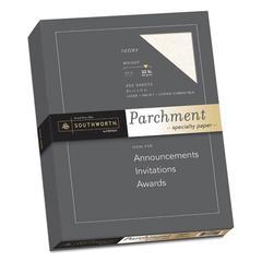 Parchment Specialty Paper, 32 lb, 8 1/2 x 11, Ivory, 250/PK