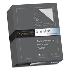 Granite Specialty Paper, 24 lb, 8 1/2 x 11, Gray, 500/BX