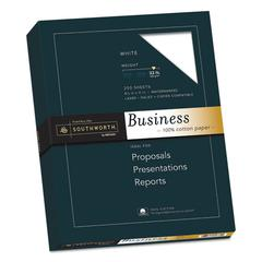 100% Cotton Business Paper, 95 Bright, 32 lb, 8 1/2 x 11, White, 250/PK
