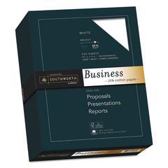 25% Cotton Business Paper, 95 Bright, 24 lb, 8.5 x 11, White, 500/Ream