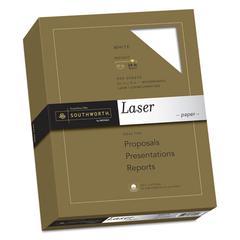 25% Cotton Laser Paper, 95 Bright, 24 lb, 8 1/2 x 11, White, 500/BX