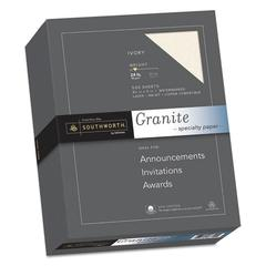 Granite Specialty Paper, 24 lb, 8 1/2 x 11, Ivory, 500/BX