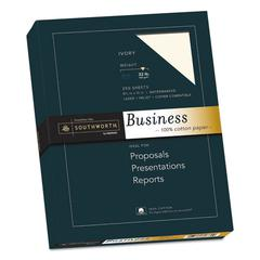100% Cotton Business Paper, 32 lb, 8.5 x 11, Ivory, 250/Pack