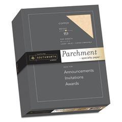 Parchment Specialty Paper, 24 lb, 8 1/2 x 11, Copper, 100/PK