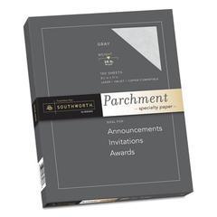 Parchment Specialty Paper, 24 lb, 8 1/2 x 11, Gray, 100/PK