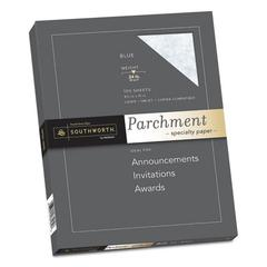 Parchment Specialty Paper, 24 lb, 8 1/2 x 11, Blue, 100/PK