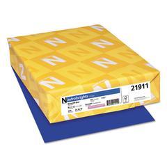 Color Cardstock, 65lb, 8.5 x 11, Blast-Off Blue, 250/Pack