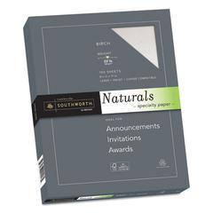 Naturals Paper, Birch, 8 1/2 x 11, 32lb, 100 Sheets