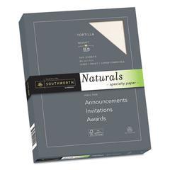 Naturals Paper, 32 lb, 8 1/2 x 11, Tortilla, 100/PK