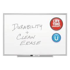 Classic Series Porcelain Magnetic Board, 48 x 36, White, Silver Alum. Frame