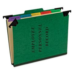 Personnel Folders, 1/3 Cut Hanging Top Tab, Letter, Green
