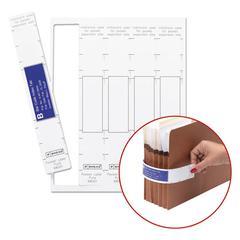 Viewables Pocket Label Pulls, 10 1/8 x 1 5/8, White, 45/Pack