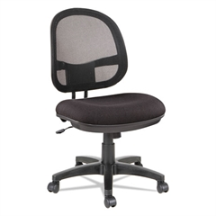 Alera Interval Series Swivel/Tilt Mesh Chair, Black