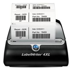 "LabelWriter 4XL, 4 4/25"" Labels, 53 Labels/Minute, 7 3/10w x 7 4/5d x 5 1/2h"