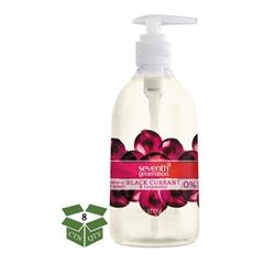 Natural Hand Wash, Black Currant & Rosewater, 12 oz Pump Bottle, 8/Carton