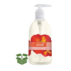 Natural Hand Wash, Hibiscus & Cardamom, 12 oz Pump Bottle, 8/Carton