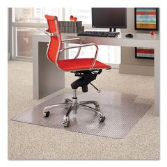 Dimensions Chair Mat for Carpet, 45 x 53 with Lip, Clear