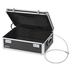 Locking Storage Chest, 14 1/2 x 8 x 19 1/2, Black