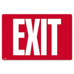 Glow-in-the-Dark Safety Sign, Exit, 12 x 8, Red