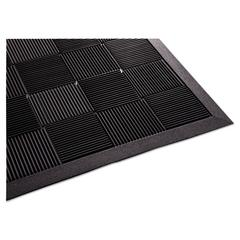 Parquet Wiper Scraper Mat, 24 x 36, Black