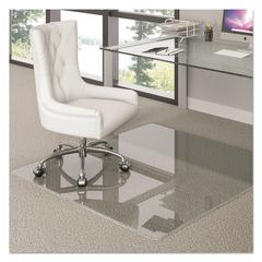 Premium Glass Chair Mat, 36 x 46, Clear